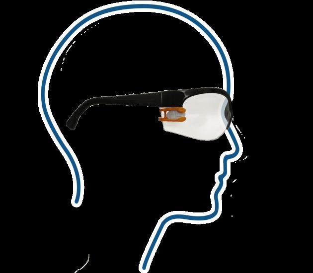 Lunettes légères et adaptées au port du dosimètre VISION