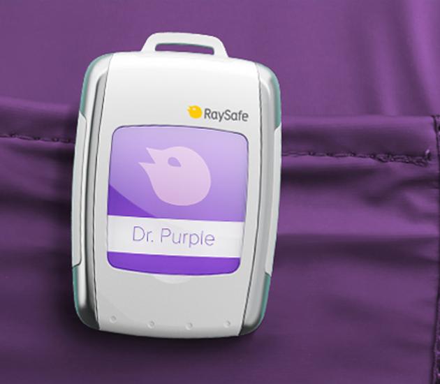Radiamètre-dosimètre badge poitrine pour les détection des rayons X et gamma