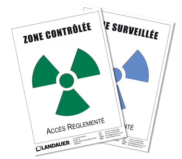 Affiche de zonage en radioprotection
