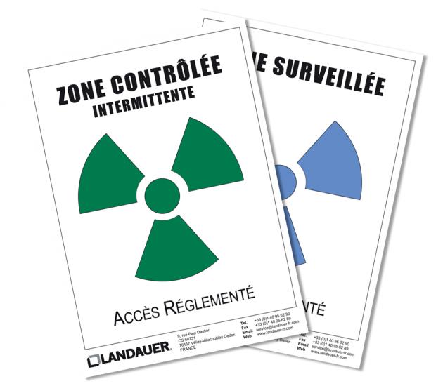 Affiche de zonage en radioprotection