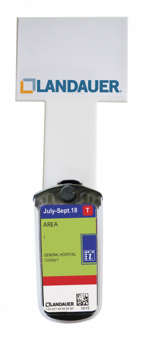 Wall mount for background dosimeter