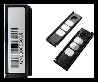VUe des filtres d'un dosimètre passif